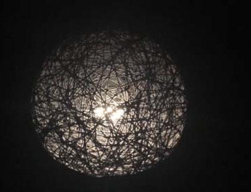 Lampenkap van wol