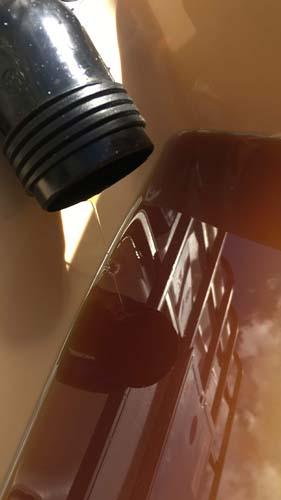 olie verwijderen