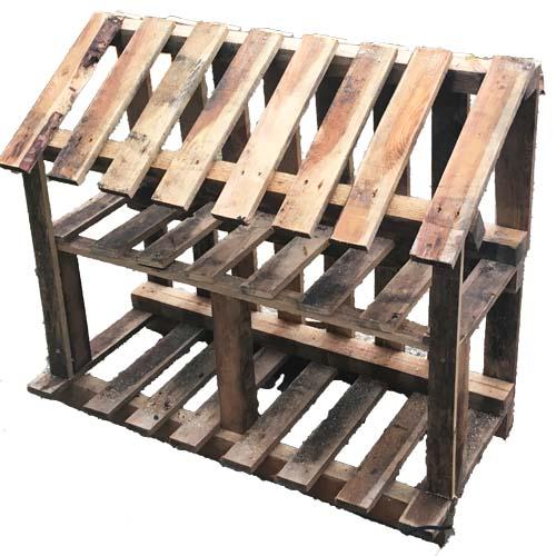 Pallet houtopslag frame